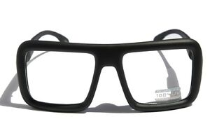 Large Thin Frame Glasses Matte Black : Large Retro Nerd Bold Thick Square Frame Classic Eye ...