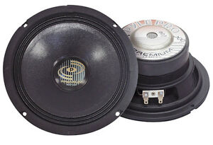 """Single 6.5"""" inch 8 ohm Premium Home Pro Woofer Replacement or Custom Speaker Box"""