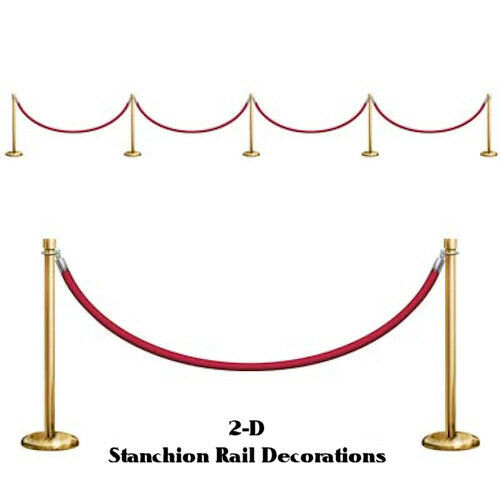 Awards Night Hollywood Theme Party 2D Stanchion Rail Props Backdrop Decorations