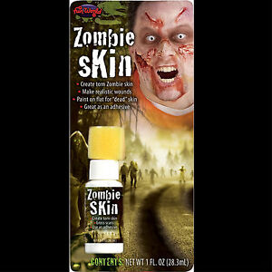 Walking-Dead-Fake-ZOMBIE-SKIN-Torn-Scars-Wound-FX-Special-Effects-Horror-Make-Up