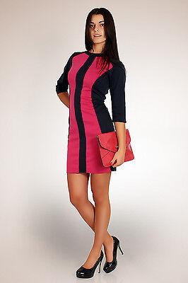 "Classic & Sensible Ladies Dress ""Strip"" Tunic Style Boat Neck Size 8-14 FA66"