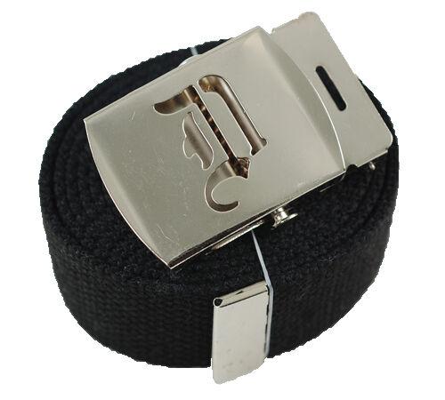 Plain or Flip Old English Canvas Web Military Black Belt /& Buckle 60 inch A-Z