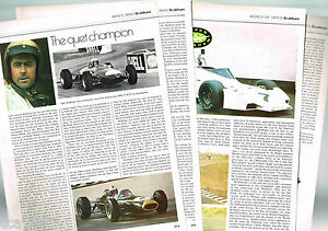old Jack BRABHAM Racing History Article / Photos / Pictures