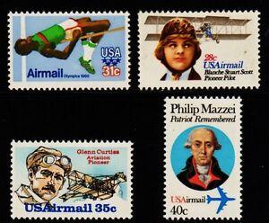 C97-C98-C99-amp-C100-1979-80-Airmail-set-MNH