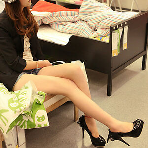 New-Black-Platform-Womens-PU-Leather-High-Heels-Pumps-Shoes-US-Size-5-8-5-WS071