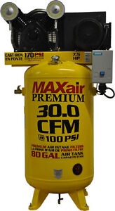 Maxair-C7180V1-MS-MAP-7-5hp-80-gallon-30-CFM-Single-Stage-Air-Compressor