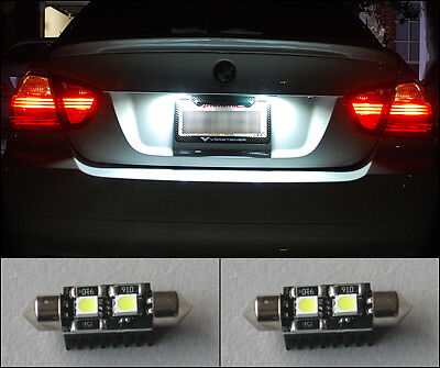 2 No OBC Error LED License Plate Light BMW E46 E90 E92