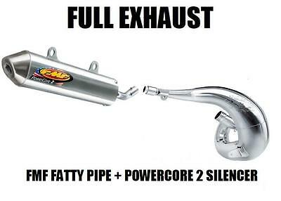 FULL FMF FATTY PIPE EXHAUST AND POWERCORE 2 SILENCER 91-01 HONDA CR500 CR500R