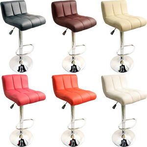 Image is loading NEW FAUX LEATHER KITCHEN BREAKFAST BAR STOOLS BARSTOOLS NEW FAUX LEATHER KITCHEN BREAKFAST BAR STOOLS BARSTOOLS STOOL  . Kitchen Breakfast Bar Chairs. Home Design Ideas