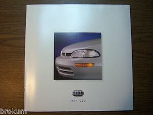 MINT-CHEVROLET-1994-CHEVY-GEO-TRACKER-38-PAGE-SALES-BROCHURE-NEW-box-496