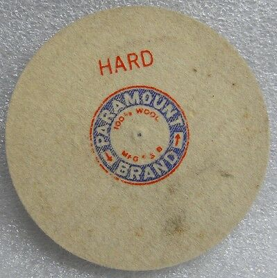 "4"" DIA 1/4"" WIDE HARD PARAMOUNT USA FELT WHEEL BUFF PIN HOLE POLISHING BUFFING"