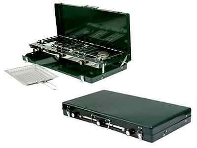 3 Burner Gas Cooker Grill Camping BBQ Barbeque Camp Stove Portable Travel New