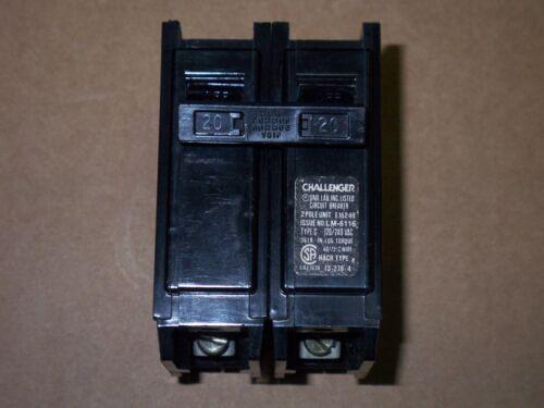 CHALLENGER//SYLVANIA BR220 C220 2 pole 20 amp CIRCUIT BREAKER