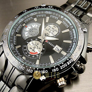 SPORT-WATER-QUARTZ-HOURS-DATE-HAND-LUXURY-CLOCK-MEN-STEEL-WRIST-WATCH-WT101