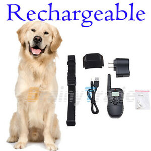 Rechargeable-100LV-Level-LCD-SHOCK-VIBRA-REMOTE-PET-DOG-PUPPY-TRAINING-COLLAR