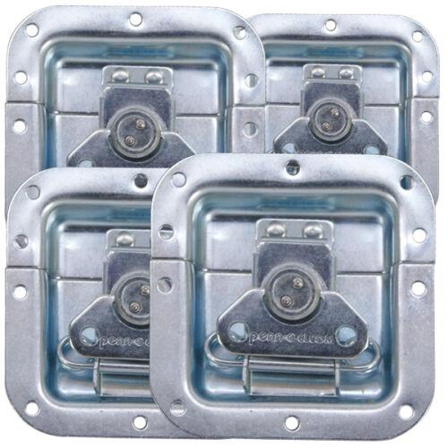 "4pcs) Recessed Latch 4""X4"" Zinc Original PennElcom L905-915Z"