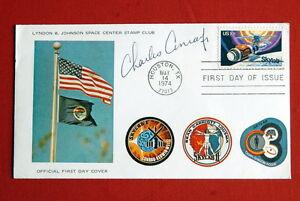 SKYLAB-ORIGINAL-FIRST-DAY-COVER-SIGNED-CHARLES-CONRAD-1974-NASA-SPACE-APOLLO