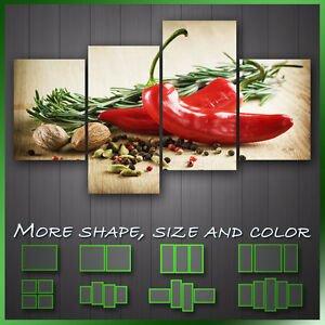 Herbs And Spices Kitchen Art Modern Kitchen Wall Art Deco Canvas