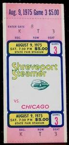 1975-CHICAGO-WINDS-AT-SHREVEPORT-STEAMER-WFL-FULL-UNUSED-TICKET