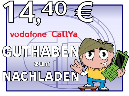 ORIGINAL VODAFONE D2 CallYa CallNow Transfer 14,40 EUR Guthaben