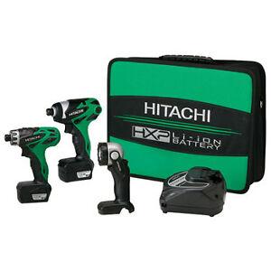 Hitachi-10-8V-Cordless-Lithium-Ion-3-Tool-Combo-Kit-KC10DAL-NEW