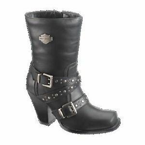 Harley-Davidson-Women-039-s-Studded-Harness-Heel-Boot-Obsession-D85229