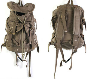 New-Vintage-Canvas-Outdoor-Military-Mens-Womens-Rucksack-Backpack-Travel-Bag