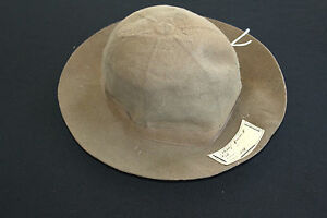 RARE-1930S-DEADSTOCK-FRENCH-FEDORA-BROWN-FELT-HAT-ORIG-TAGS-6-3-8