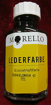 Morello Lederfarbe Einziehfarbe Leder Färbemittel 16 Farben 40ml(18,38€/100ml)