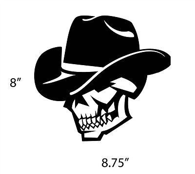 SKULL COWBOY Wall Art Vinyl decal horse western guns bull wild west saddle boots