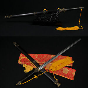 HIGH-QUALITY-HAND-MADE-CHINESE-DRAGON-SWORD-JIAN-FOLDED-STEEL-BLADE