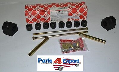 NEW Mercedes 220 220D W115 FEBI Sway Bar Bushing Kit Front 115 320 00 47