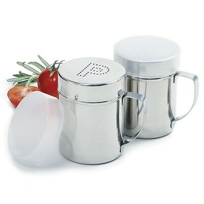 NORPRO 763 Salt and Pepper Shaker Set Stainless Steel One Cup Shakers