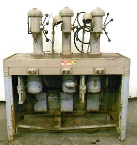 "INDIANAPOLIS MACHINERY 3 HEAD DRILL PRESS, 1/2HP, 1725RPM, 440V, 56"" X ..."