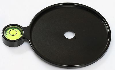 New Add-on Offset Bubble Level Plate 76mm diameter for Tripod and Head camera vi