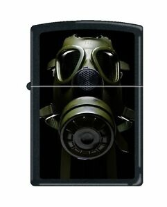 Zippo-034-Gas-Mask-034-Lighter-Black-Matte-Low-Ship-0241