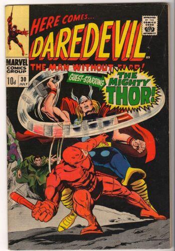 Marvel Comics FN DAREDEVIL  #30 Battles THOR 1967 Avengers