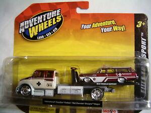 Maisto-Elite-Transport-2-Die-cast-1962-Chevrolet-Biscayne-Wagon-1-64-MOC