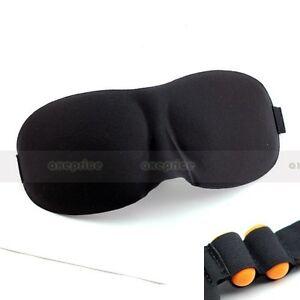 Sleeping-Eye-Mask-Blindfold-w-Earplugs-Shade-Travel-Sleep-aid-Cover-Light-guide