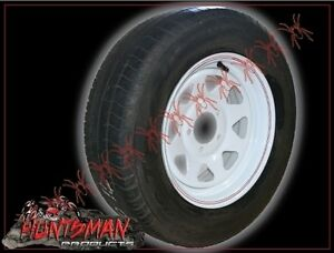 14-034-TRAILER-NEW-WHEEL-amp-2ND-HAND-TYRE-FORD-HQ-HT-6-STUD-CARAVAN-CAMPER