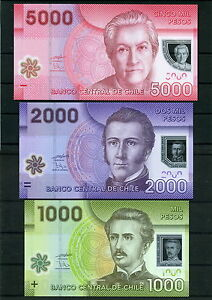Chile-1000-2000-5000-the-Polymer-Banknotes-min-UNC-Mistral-Carrera