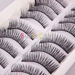 New-10-Pair-Woman-Girl-Long-Thick-Soft-False-Fake-Eyelash-Makeup-Gift-029-HF-FD