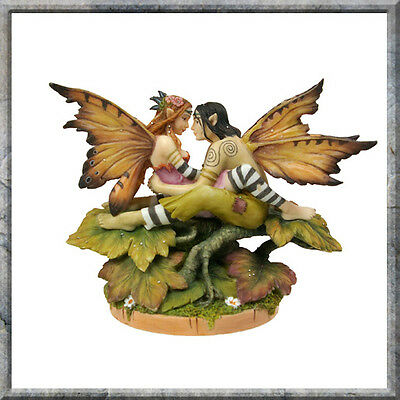 LINDA RAVENSCROFT EYE TO EYE FAIRY LOVE AT FIRST SIGHT STATUE OTHERWORLD SERIES