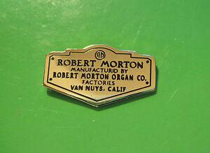 ROBERT MORTON Organ company - hat pin, hatpin, lapel pin, tie tac