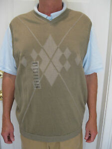 IZOD-GOLF-100-MERCERIZED-COTTON-OLIVE-GREEN-VEST-FRONT-DESIGN-SIZE-XL-NWT