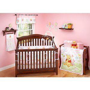 4pc-Winnie-the-Pooh-Sweetest-Hunny-Baby-Girl-Crib-Bedding-Set-Nursery-Decor-New