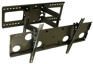 ARTICULATING-DUAL-ARM-SWIVEL-TITL-LCD-LED-TV-WALL-MOUNT-37-42-47-50-55-60-65