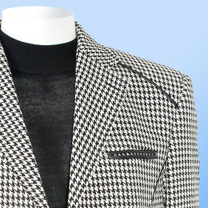 NWT Inserch Mens Houndstooth Sport Coat Blazer BLACK/WHITE IS ...