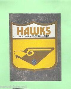 1983 SCANLENS VFL STICKER #85 HAWTHORN HAWKS FOIL EMBLEM