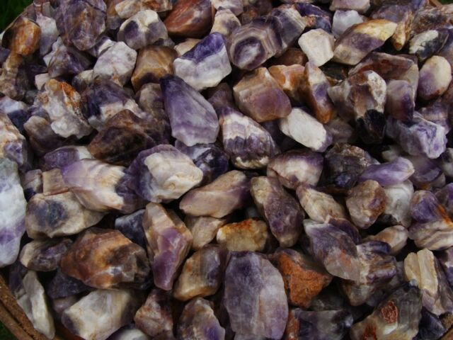 3000 Carat Lots of Natural Banded Amethyst Rough - Plus a FREE faceted Gemstone